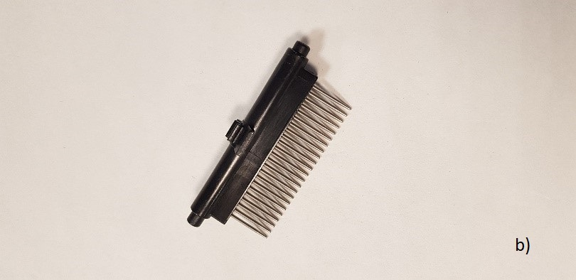 b) Comb for long hair